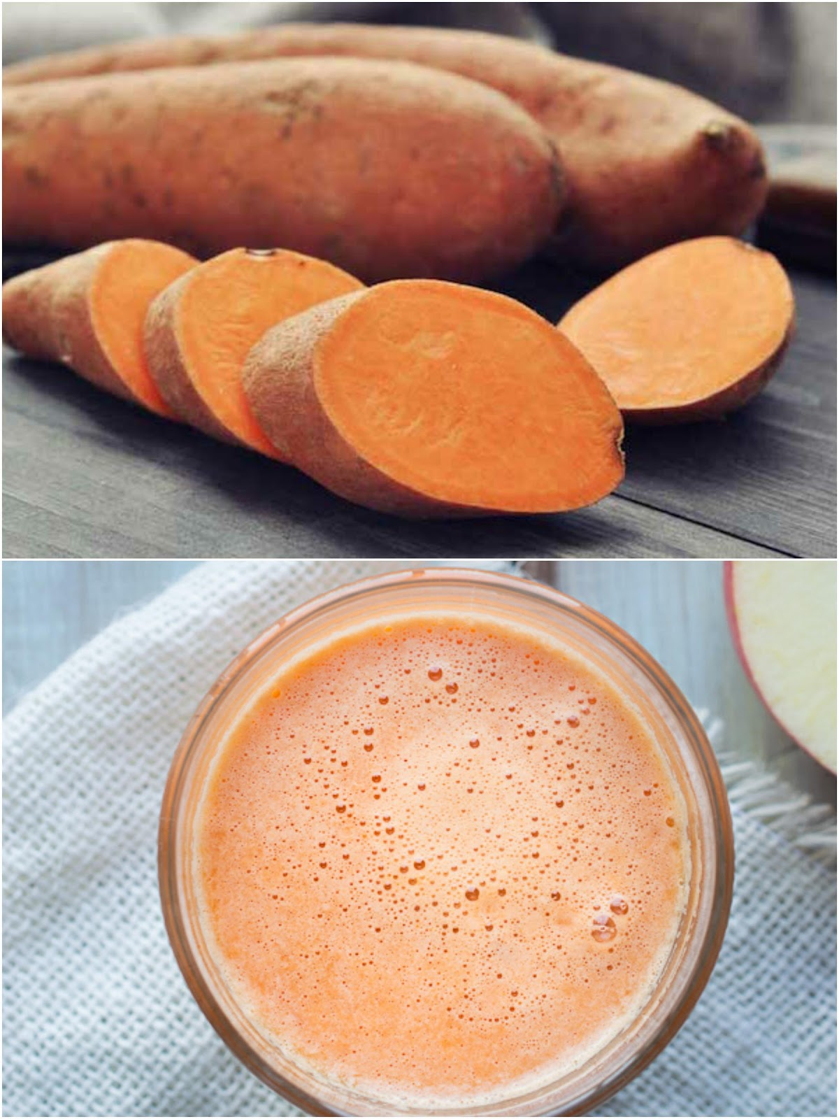 how to make sweet potato juice